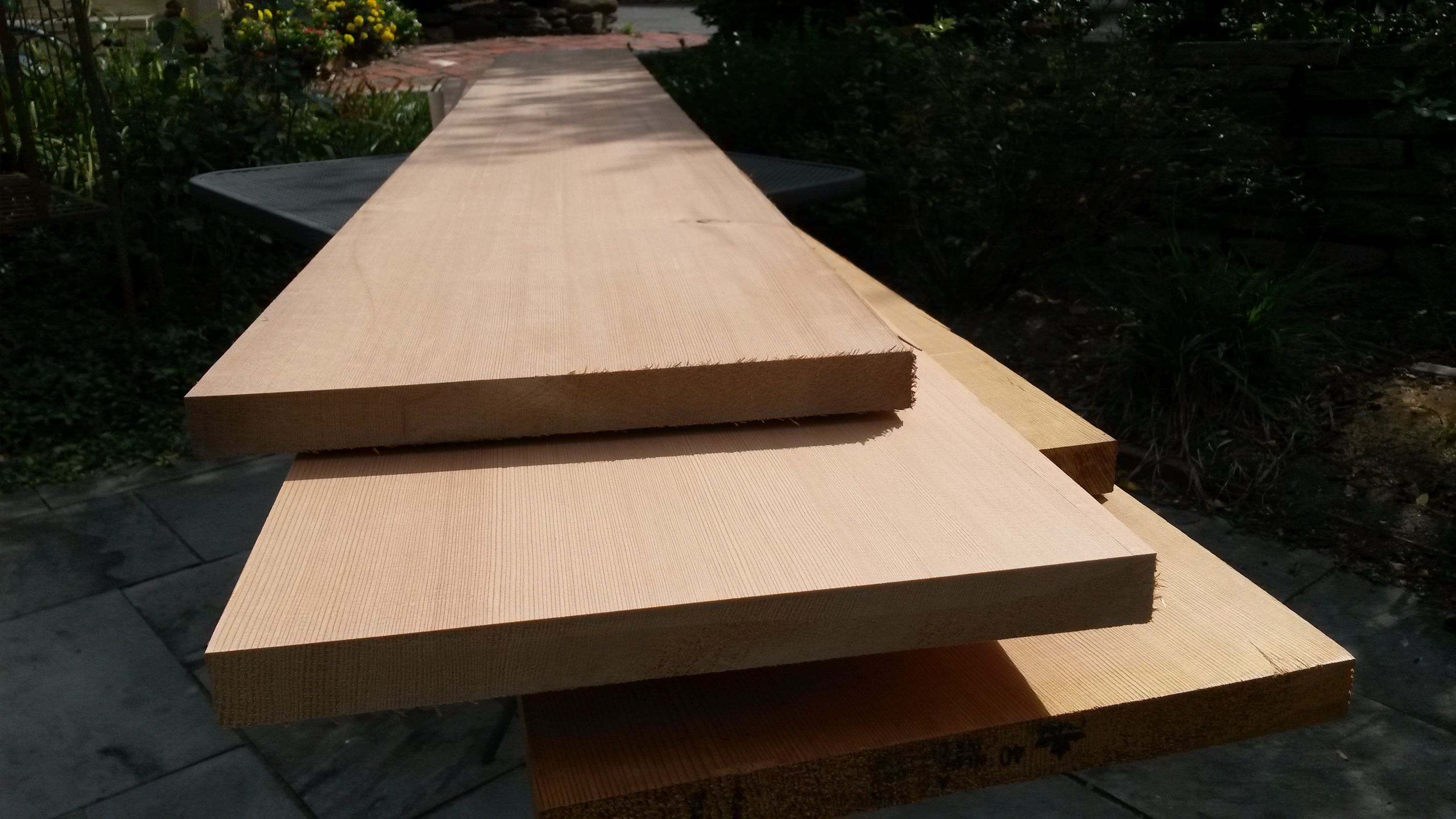 solid cedar plank for exterior signs