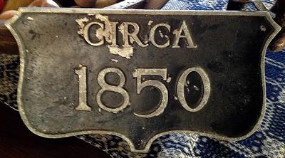 cast aluminum historic house plaque finish deteriorated