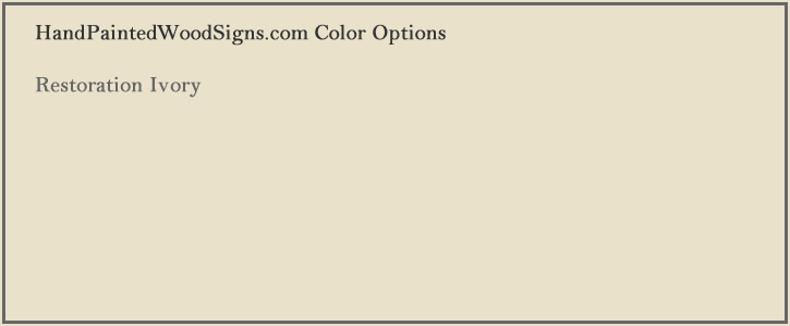 sign color ivory