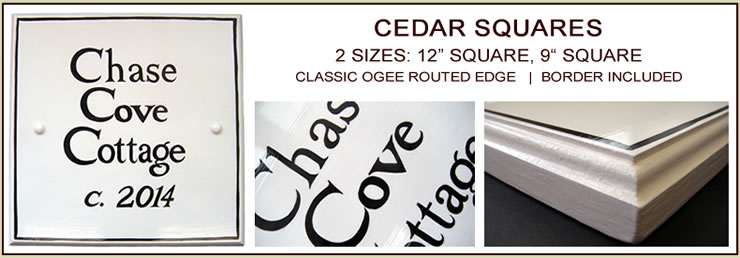 cedar square historic house sign hand painted