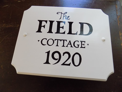 hand painted cottage sign