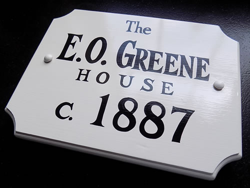 hand painted historic house plaques
