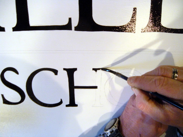 hand lettering with brushes