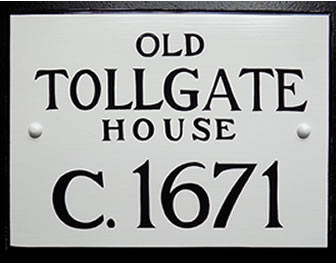 reproduction historic house sign